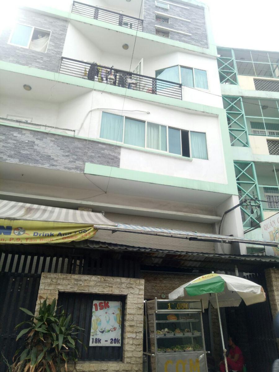 Kẹt tiền bán gấp căn nhà ngang 9.5m x 14m, hẻm 8m, 4 Lầu, 1 sân thượng giá 13.5 tỷ