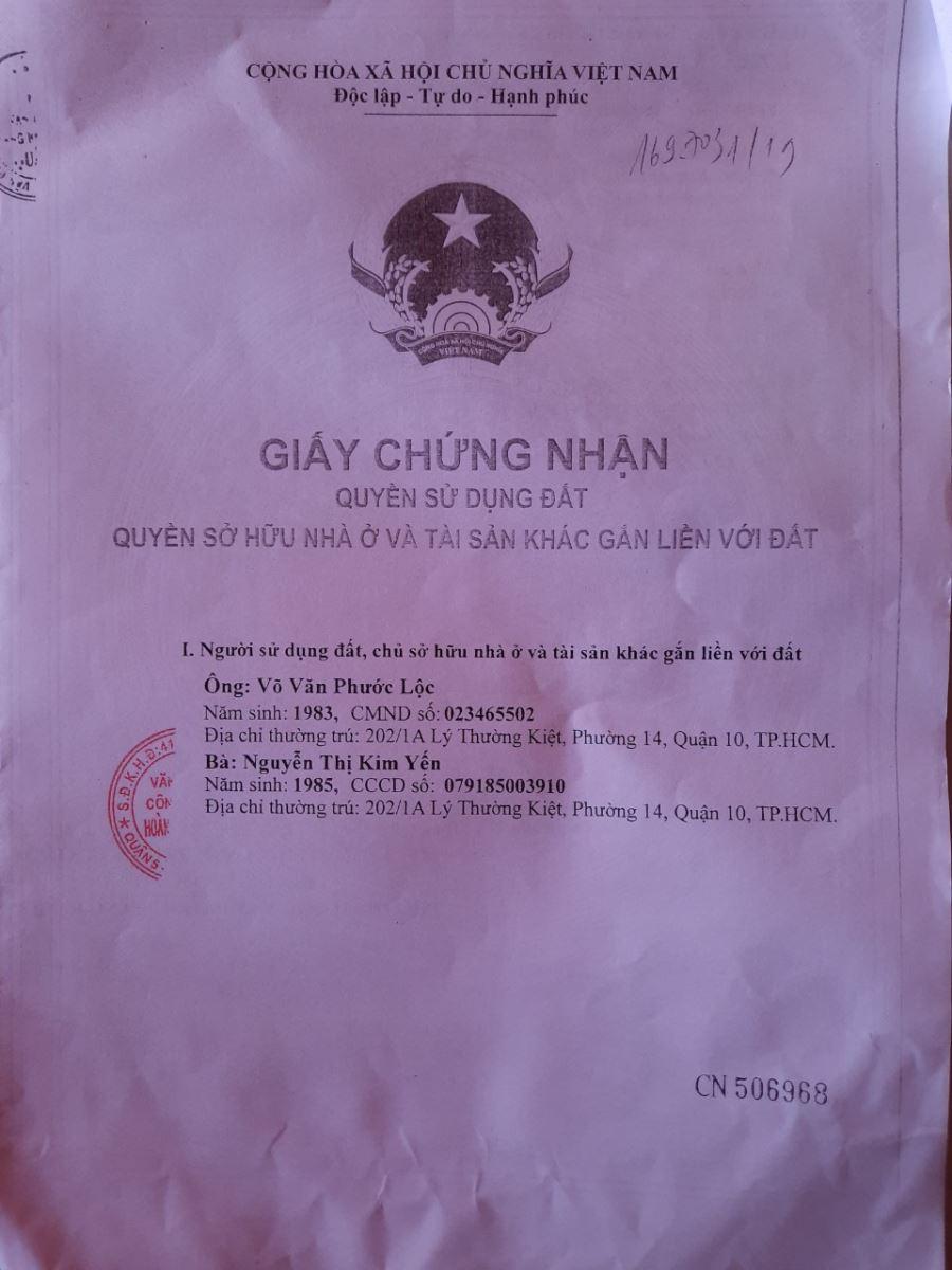Bán nhà Nguyễn Ngọc Lộc, Q10, 1 trệt 1 lầu đúc 3 x11m, nhà đẹp ở liền 4 tỷ TL